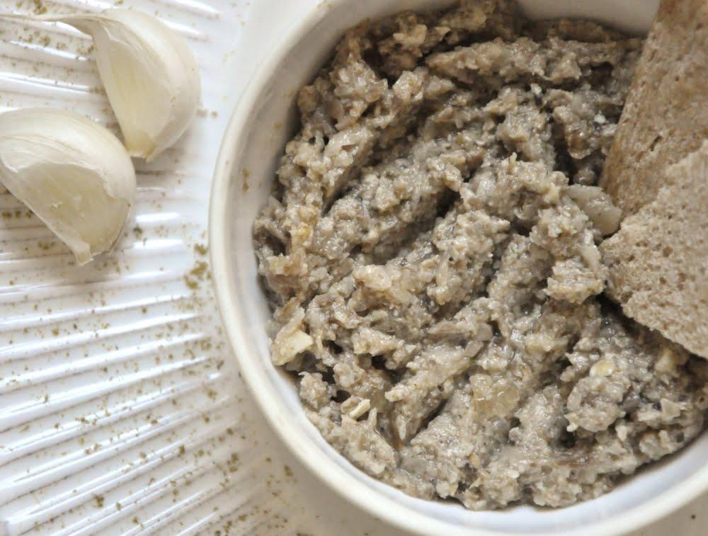 Tartinade de champignon et topinambour
