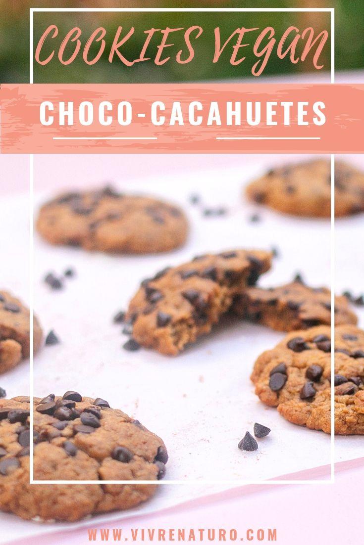 cookies vegan choco cacahuetes